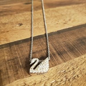 Swarovski logo necklace